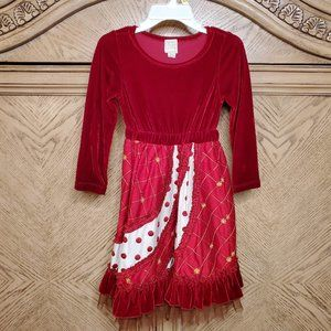 78% Silk Long Sleeve Quilted Velvet Dress